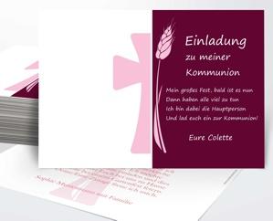 Kommunion Karte Schreiben.Einladungen Zur Kommunion Spruche Fur Einladungskarten